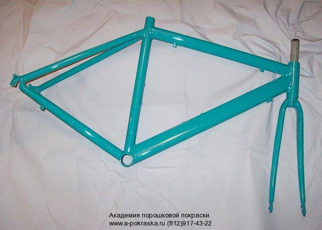 Порошковая покраска велосипедных рам